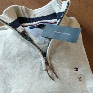 Tommy Hilfiger Oatmeal Zip-Up Size M NWT
